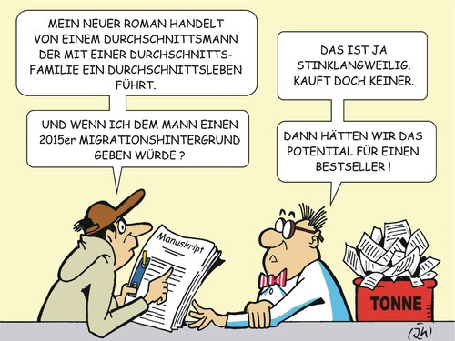 Cartoon: Neulich beim Verleger (medium) by JotKa tagged verleger,verlag,literatur,printmedien,autor,schriftsteller,bestseller,bücher,romane,manuskripte,immigranten,migration,2015,umsatz,verleger,verlag,literatur,printmedien,autor,schriftsteller,bestseller,bücher,romane,manuskripte,immigranten,migration,2015,umsatz