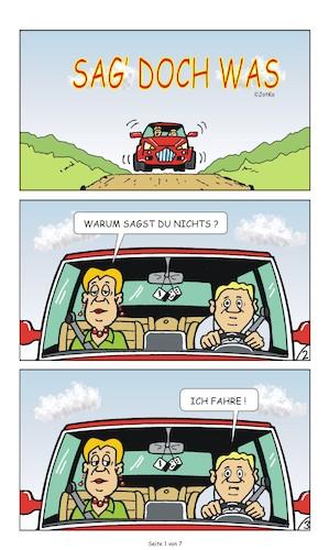 Cartoon sex in de auto