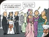 Cartoon: Charming (small) by JotKa tagged party,celebrations,receptions,opera,elites,manager,ladies,gentlemen,society,faschion,jewelry,youth,old,opulence,boaster,embarassing,charming