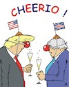 Cartoon: Cheerio! (small) by JotKa tagged boris,johnson,donald,trump,brexit,usa,england,brüssel,eu,austritt,clowns,wirtschaft,party,feier