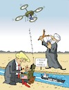 Cartoon: Ein Eindringling (small) by JotKa tagged strasse,von,hormus,golf,drohnenzwischenfall,drohnenabschuss,waschington,teheran,trump,mullahs
