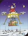 Cartoon: Ho ho ho (small) by JotKa tagged amazon,drohne,weihnachten,weihnachtsmann,weihnachtsgeschenke,traditionen,rentiere,santa,claus,feste,feiern,internet,internethandel,fortschritt,moderne,technik,winterlandschaft,schnee,drone,christmas,traditions,reindeer,celebrations,progress,modern,technol