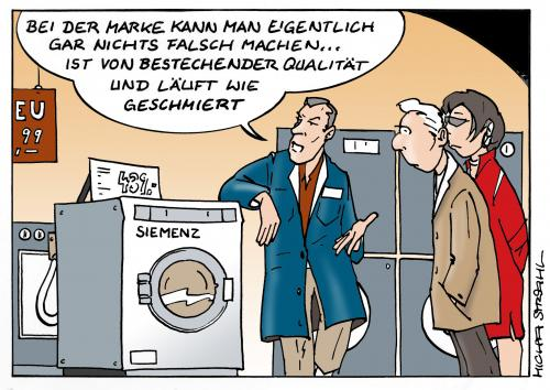 Cartoon: Läuft wie geschmiert (medium) by Micha Strahl tagged micha,strahl,korruption,bestechungsaffäre,siemens,korruption,verbrechen,firma,bestechungsaffäre,siemens,elektrogeräte,bestechung,waschmaschine,verkäufer,kunde,verkaufen,affäre,skandal