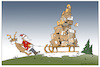 Cartoon: xmas parcel (small) by Micha Strahl tagged micha,strahl,weihnachtsmann,santa,claus,christmasparcel