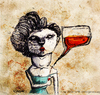 Cartoon: Chat n Drink (small) by CIGDEM DEMIR tagged alcohol party drink chat woman illustration