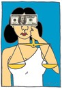 Cartoon: JUSTICE (small) by CIGDEM DEMIR tagged justice,money