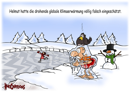Cartoon klimaerwärmung medium by karicartoons tagged winter