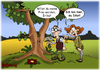 Cartoon: Erika (small) by karicartoons tagged heiraten,heiratsantrag,liebespaar,ast,astgabel,baum,baummoos,brille,fehler,fehlsichtig,gabelung,moos,nichts,sehen,paar,sehfehler,sehschärfe,verwechselung,wütend,wut