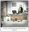 Cartoon: Sensual Harassment (small) by Humoresque tagged massage,massages,masseuse,masseuses,sensual,sexual,harassment,secretary,secretaries,boss,bosses,oil,oils,incense,scented,candle,candles,coworker,coworkers,discrimination,sexist,sexism,employee,employees,mistreatment,sexually,harrassing