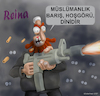 Cartoon: radical Muslim terrorism (small) by Gölebatmaz tagged reina,radical,muslim,clun,turkey,istanbul,attack,terror,terrorism