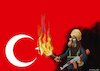 Cartoon: terror (small) by Gölebatmaz tagged radical,turkey,terror,ankara,istanbul