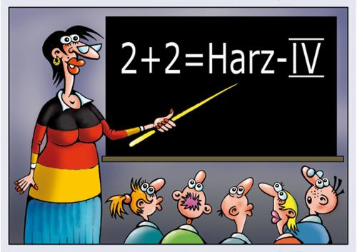 Cartoon: matematik (medium) by kurtu tagged no,schule,bildung,hartz4,mathematik,arbeitslose,zukunft,deutschland,sozialhilfe,job,tafel,unterricht,lehrer