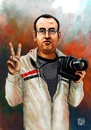 Cartoon: El Hussien (small) by Amal Samir tagged egypt,revolution,young,man