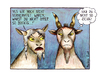 Cartoon: zwei Ziegen... (small) by martinchen tagged ziegen,liebe,ehe,krise