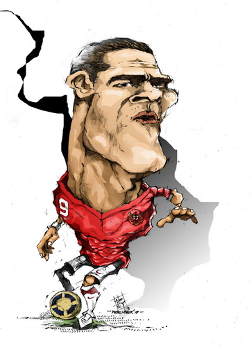 Cartoon: cristian gonzales (medium) by cakBOY tagged cristian,gonzales,el,loco,caricature,timnas,indonesia