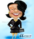 Cartoon: condoleeza rice (small) by asrus tagged condoleeza,rice