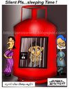 Cartoon: Gas cylinder prize hiked ! (small) by asrus tagged indian,cartoon