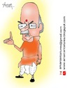Cartoon: Lal Krishna Advani Caricature (small) by Amar cartoonist tagged advani,amar,caricature