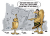 Cartoon: Neanderthals (small) by paraistvan tagged cave drawing neanderthal kid home