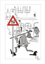 Cartoon: Traffic sign (small) by paraistvan tagged traffic,sign,it,is,also,way,you,can,ride
