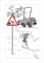 Cartoon: Traffic sign car (small) by paraistvan tagged traffic,sign,bathing,car,swimming