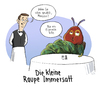 Cartoon: Klassiker? (small) by Tobias Wieland tagged raupe,nimmersatt,kinderbuch,klassiker,klassisch,restaurant,kellner,ober,espresso,kaffee,satt,dick,fett,menü,cartoon,immersatt,voll,buch,tobias,wieland