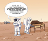 Cartoon: Marsmusik (small) by Tobias Wieland tagged mars,nasa,raumfahrt,curiosity,sonde,weltraum,all,sonnensystem,astronaut,houston,planet,cembalo,musik,leben,aliens,klavier,spinett,esa