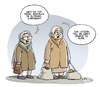Cartoon: Omis Traum (small) by Tobias Wieland tagged oma,großmutter,alt,topmodel,heidi,klum,alter,groß,klein,model