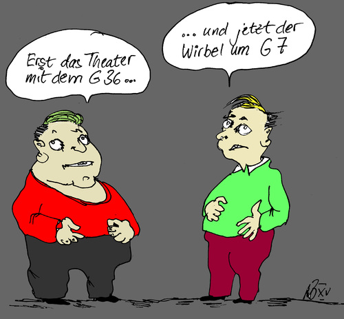 Cartoon: Der G Faktor (medium) by Marbez tagged g36,g7,ärger