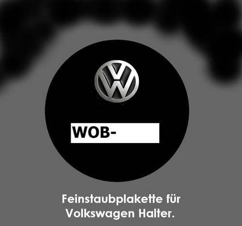 Cartoon: Feinstaubplakette (medium) by Marbez tagged feinstaub,vw,abgasskandal
