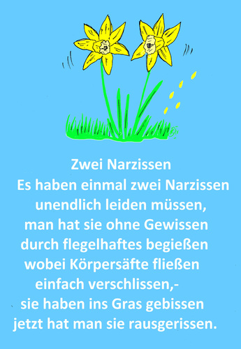 Cartoon: Zwei Narzissen (medium) by Marbez tagged ostern,narzissen,blumen