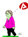 Cartoon: Merkels Jobcenter (small) by Marbez tagged merkel,jobcenter,taxi