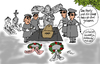 Cartoon: Postmortale Spionage (small) by Marbez tagged spione,postmortal,wanze,handy