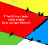 Cartoon: Sicht auf den Himmel (small) by Marbez tagged himmel,sicht,religion