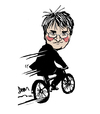 Cartoon: Andrew Mitchell - Ex politician (small) by Dom Richards tagged mitchell,disgraced,politician,caricature