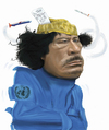 Cartoon: Colonel Quadaffi (small) by Dom Richards tagged quadaffi,tyrant,libya,nato