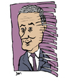 Cartoon: Fred Goodwin (small) by Dom Richards tagged finance,caricature,disgraced,banker