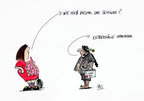 Cartoon: Extremfall-Seminar (medium) by Flo tagged fortbildung,seminar,