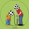Cartoon: father and son (small) by Jura Karikatura tagged football,fußball