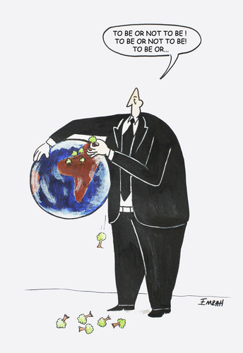 Cartoon: to be or not to be... (medium) by emraharikan tagged be,to,warming,global,ecology