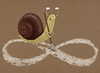Cartoon: snail and eternity (small) by gunberk tagged snail,eternity,sisifos