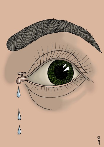 Cartoon: tap of the crying (medium) by Medi Belortaja tagged drop,tear,eye,crying,cry,tap