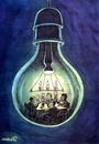 Cartoon: cheers (small) by Medi Belortaja tagged cheers bulb