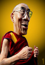 Cartoon: Dalai Lama (small) by Medi Belortaja tagged dalai,lama,tibet