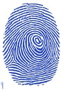 Cartoon: internet fingerprint (small) by Medi Belortaja tagged internet,fingerprint,at,symbol,fb,twitter,identity,spy,theft,crime