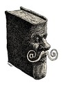 Cartoon: modern mustache (small) by Medi Belortaja tagged modern,mustache,book,internet,at