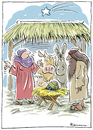 Cartoon: Das Wunder (small) by Riemann tagged ostern,ei,weihnachten,krippe,unbefleckte,empfaengnis,wunder,maria,josef,religion,christentum,kirche,church,wonder,jesus,christ,easter,egg,christmas,bethlehem,cartoon,george,riemann