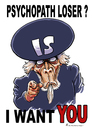 Cartoon: IS Recruiting (small) by Riemann tagged is,terrorism,psychopath,loser,socially,unfit,mass,murder,terrorismus,massenmord,anschlag,nice,nizza,einzelgänger,wahnsinn,uncle,sam,recruiting,poster,cartoon,george,riemann