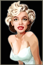 Cartoon: MARILYN (small) by el chaqueta tagged marilyn