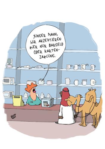 bezahlung von luftzone  wirtschaft cartoon  toonpool ~ Kaffeemaschine Lustig